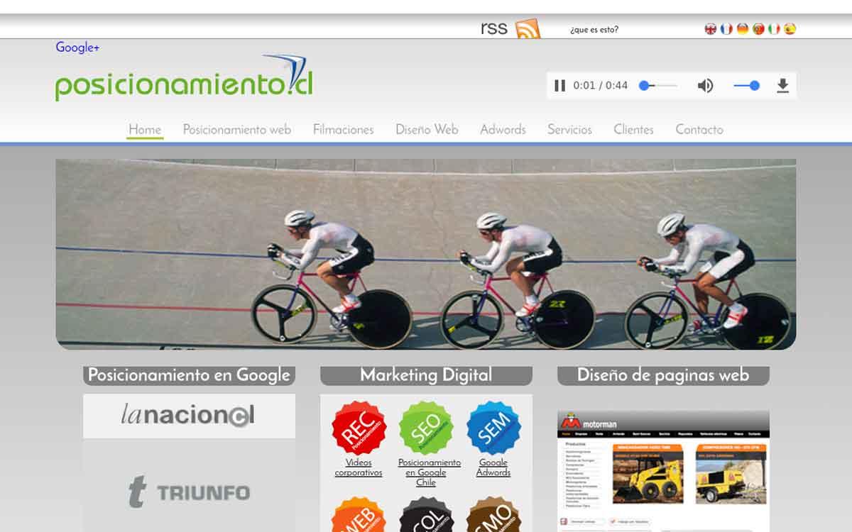 SEO Posicionamiento web en Google Chile y diseño de sitios responsive en Chile