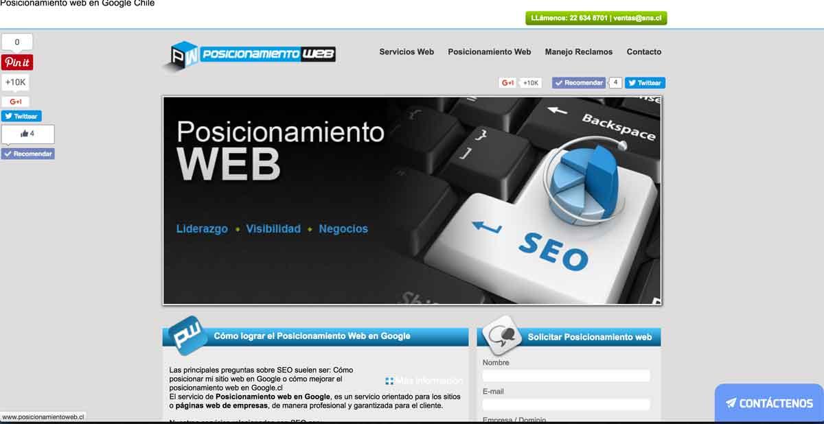 seo, posicionamiento de sitios web