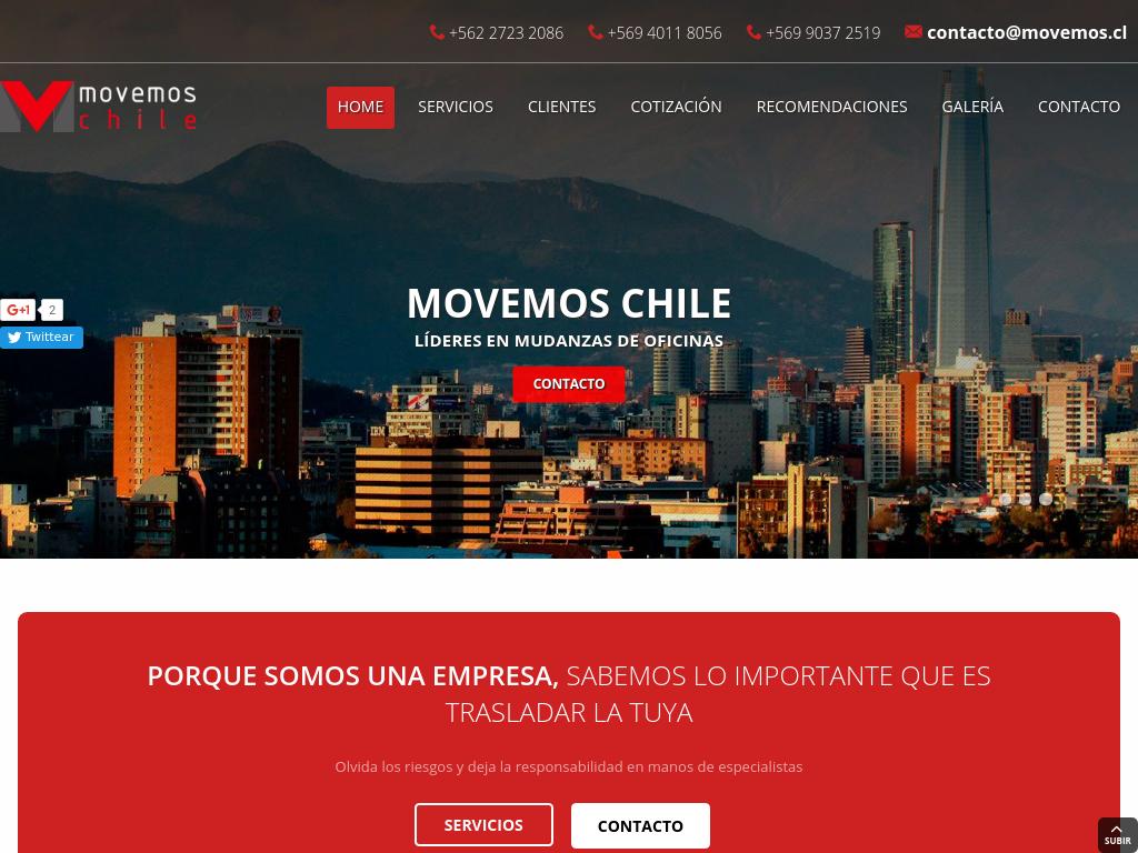 Movemos excelencia en mudanza en todo chile for Mudanzas de oficinas