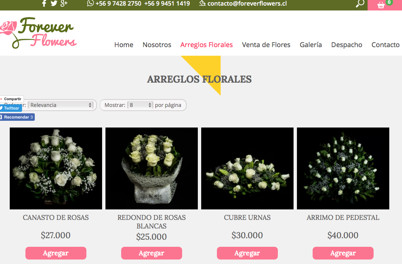 Despacho de flores a domicilio en Santiago