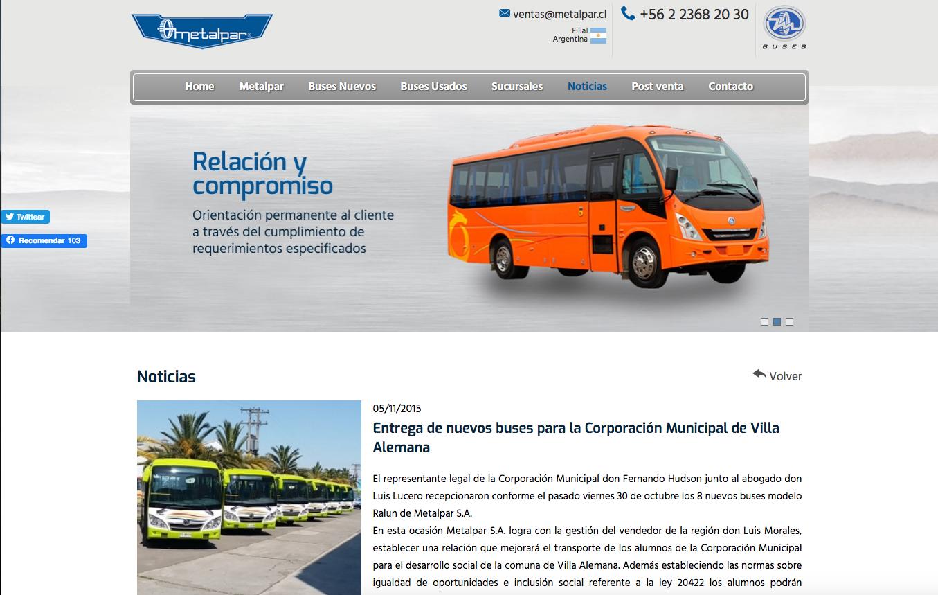 Microbuses en Chile